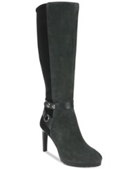 Tahari Guard Tall Boots Women's Shoes Charcoal