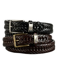 Nautica Braided Leather Belt Tan
