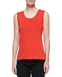 Misook Scoop Neck Tank Blood Orange Petite