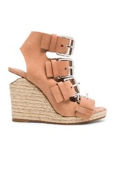 Alexander Wang Jo Leather Wedges In Neutrals Pink