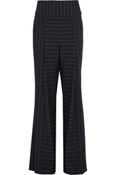 Dion Lee Pinstriped Stretch Cady Wide Leg Pants