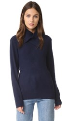 Ganni Mercer Collar Sweater Total Eclipse