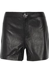 J Brand Mila Leather Shorts Black