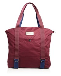 Adidas By Stella Mccartney Yoga Tote Maroon Dark Blue Gray