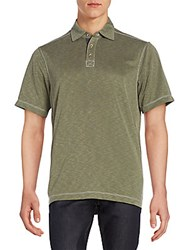 Saks Fifth Avenue Jersey Polo Shirt Olive