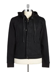 Hudson Jeans Denim Moto Jacket Black
