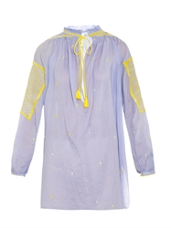 Thierry Colson Guise Embroidered Cotton Tunic Top