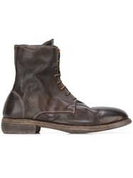 Guidi Lace Up Boots Brown