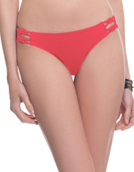 Blush Lingerie Macrame Braided Swim Hipster Red