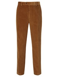 John Lewis Laundered Corduroy Trousers Camel