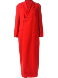 A.F.Vandevorst '151 Mirage' Coat Red