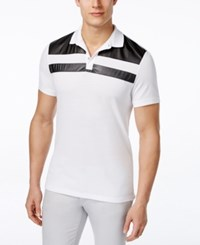 Inc International Concepts Faux Leather Men's Parabola Polo Only At Macy's White Pure