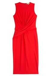Michael Kors Collection Crepe Jersey Dress Red