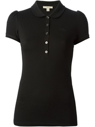Burberry Brit Checked Placket Polo Shirt Black
