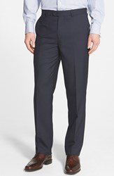 Men's Big And Tall Linea Naturale 'Wear Now Work Now' Microfiber Trousers Navy