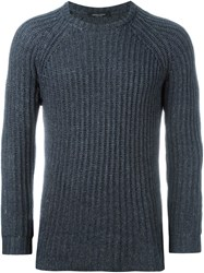 Roberto Collina Cable Knit Fitted Jumper Grey