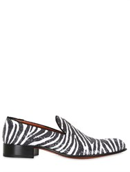 Rodolphe Menudier Zebra Sequined Loafers