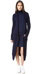 Tibi Mohair Slim Cozy Cardigan Midnight Navy