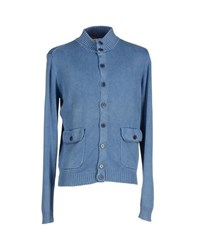 Altea Knitwear Cardigans Men Pastel Blue