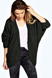 Boohoo Marl Knit Batwing Cardigan Bottle