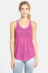 Hard Tail Slouchy Racerback Tank Purple