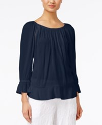 Inc International Concepts Long Sleeve Peasant Top Only At Macy's Deep Twilight