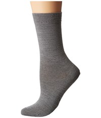 Falke Soft Merino Sock Light Grey Women's Crew Cut Socks Shoes Gray