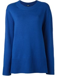Jil Sander Navy Long Jumper Blue