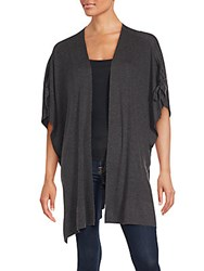 Splendid Ribbed Open Front Jacket Charcoal