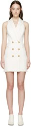 Balmain Ivory Short Tuxedo Dress