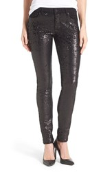 Women's Cj By Cookie Johnson 'Peace' Sequin Front Skinny Jeans Black