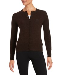 Lord And Taylor Cashmere Cardigan Classic Brown Heather