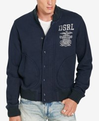 Denim And Supply Ralph Lauren Men's French Terry Jacket Cls Navy