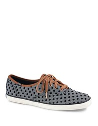 Keds Champion Herringbone And Polka Dot Sneakers Black