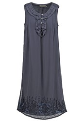 Cream Sanna Summer Dress Dark Grey Dark Gray