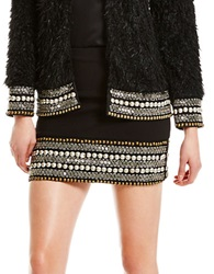 Jessica Simpson Beaded Mini Skirt Black