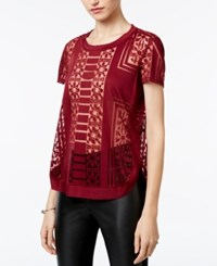 Bar Iii Burnout Top Only At Macy's Tile Red