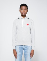 Comme Des Garcons Red Heart Play Sweatshirt Grey