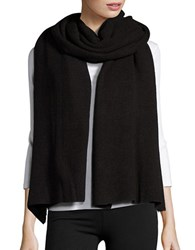 Collection 18 Ribbed Knit Wrap Black