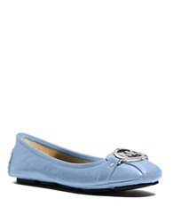 Michael Michael Kors Fulton Leather Moccasin Light Blue