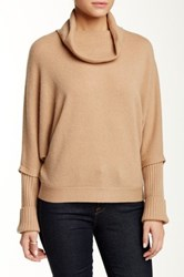 Sofia Cashmere Cowl Neck Cashmere Sweater Brown