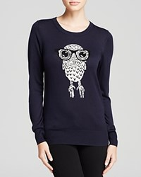 French Connection Sweater Geeky Owl Knits Nocturnal White Hare Black