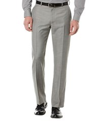 Perry Ellis Big And Tall Textured Flat Front Suit Pants Brushed Nickel