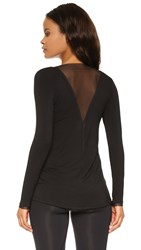 Prismsport Essentials Tunic With Mesh Trim Black