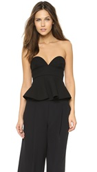 Nicholas Double Bonded Bustier Crop Top Black