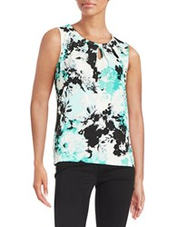 Nipon Boutique Floral Tank Lucite Multi Blue