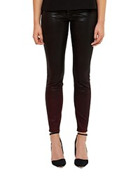 Ted Baker Ombray Waxed Finish Jeans In Oxblood