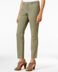Maison Jules Slim Fit Ankle Pants Only At Macy's Dusty Olive