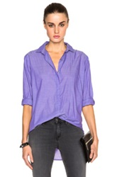 Mih Jeans Oversized Top In Purple Stripes