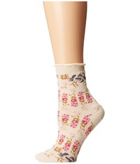 Free People Floral Anklet Socks Ivory Combo Women's Crew Cut Socks Shoes Multi